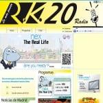 Logo da emissora Radio RK 20 FM 107.7