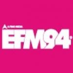 Logo da emissora EFM 93.5