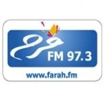 Logo da emissora Farah 97.3 FM