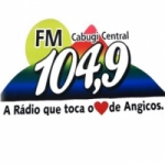 Logo da emissora R�dio Cabugi Central 104.9 FM