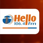 Logo da emissora Hello FM 106.4