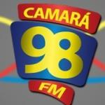 Logo da emissora Rádio Camará 98.5 FM