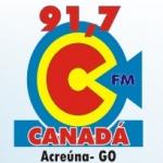 Logo da emissora R�dio Canad� Acre�na 91.7 FM