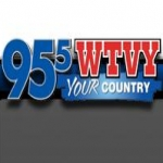 Logo da emissora WTVY 95.5 FM