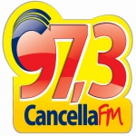 Logo da emissora Rádio Cancella 97.3 FM