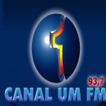 Logo da emissora R�dio Canal Um 93.7 FM