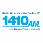 Logo da emissora R�dio Am�rica Can��o Nova 1410 AM