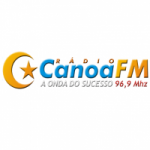 Logo da emissora Rádio Canoa 96.9 FM