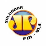 Logo da emissora Rádio Jovem Pan 91.3 FM