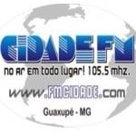 Logo da emissora Rádio Cidade Guaxupé 105.5 FM
