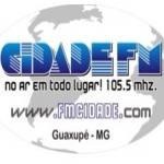 Logo da emissora R�dio Cidade Guaxup� 105.5 FM