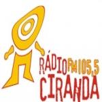 Logo da emissora Rádio Ciranda 105.5 FM