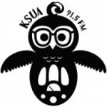 Logo da emissora KSUA 91.5 FM