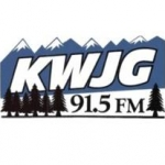 Logo da emissora KWJG 91.5 FM