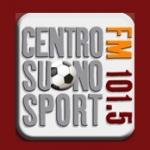 Logo da emissora Centro Suono Sport 101.5 FM
