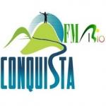 Logo da emissora Rádio Conquista 98.5 FM