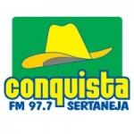 Logo da emissora Rádio Conquista 97.7 FM