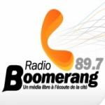 Logo da emissora Boomerang 89.7 FM