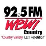 Logo da emissora WBWI 92.5 FM