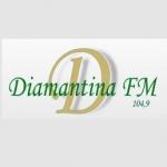 Logo da emissora Rádio Diamantina 104.9 FM