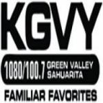 Logo da emissora KGVY 1080 AM & 100.7 FM