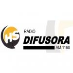 Logo da emissora Rádio Difusora 1160 AM