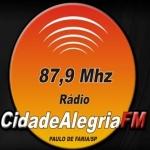 Logo da emissora Rádio Cidade Alegria 87.9 FM