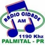 Logo da emissora Rádio Cidade de Palmital 1190 AM