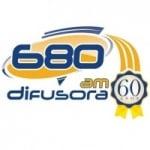 Logo da emissora Rádio Difusora 680 AM