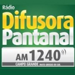 Logo da emissora Rádio Difusora Pantanal 1240 AM