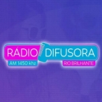 Logo da emissora Rádio Difusora 1450 AM