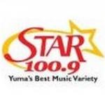 Logo da emissora KQSR 100.9 FM Star