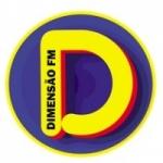 Logo da emissora Rádio Dimensão 87.9 FM