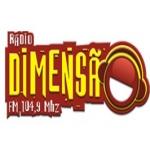 Logo da emissora Rádio Dimensão 104.9 FM
