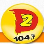Logo da emissora Rádio Dinâmica 104.7 FM