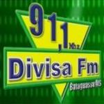 Logo da emissora Rádio Divisa 91.1 FM