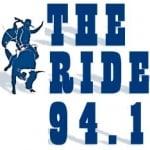 Logo da emissora KRDE 94.1 FM The Ride