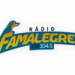 Logo da emissora Rádio Fama 104.5 FM