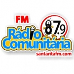 Logo da emissora Rádio Comunitária Santa Rita 87.9 FM