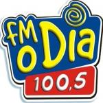 Logo da emissora R�dio FM O Dia 100.5