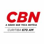 Logo da emissora Rádio CBN Curitiba 670 AM