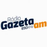 Logo da emissora Rádio Gazeta 890 AM