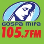 Logo da emissora R�dio Gospa Mira 105.7 FM