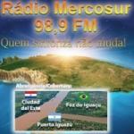 Logo da emissora Rádio Mercosur 98.9 FM