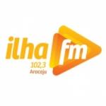 Logo da emissora R�dio Ilha 102.3 FM