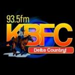 Logo da emissora Radio KBFC 93.5 FM
