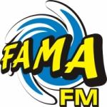 Logo da emissora Rádio Fama 97.9 FM