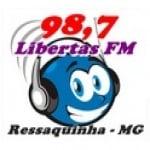 Logo da emissora Rádio Libertas 98.7 FM