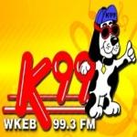 Logo da emissora WKEB 99.3 FM