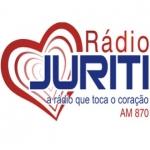 Logo da emissora Rádio Juriti 870 AM